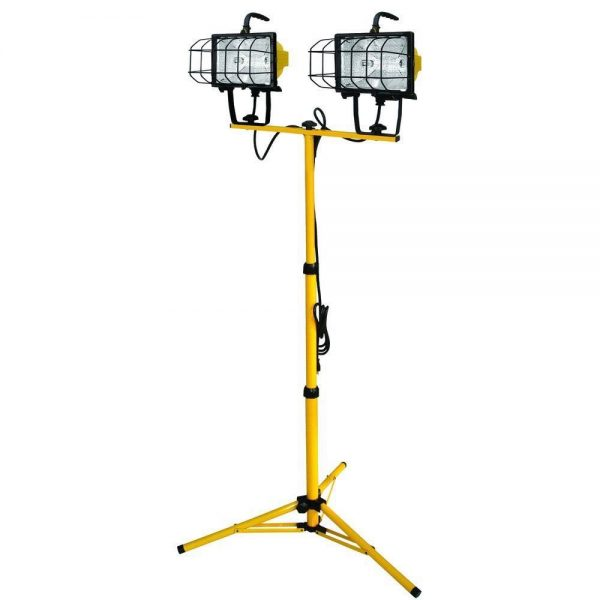 Flood Light on stand – 2 x 500 watt
