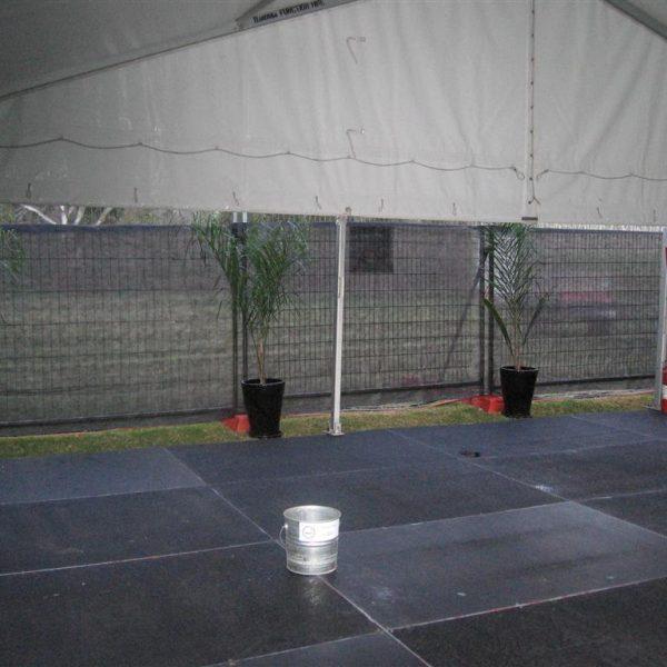 Flooring, Black Timber Dancefloor