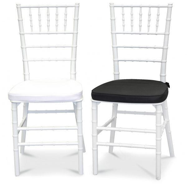 Chiavari Chairs, white with optional seat pad