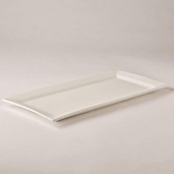 Platter, white rectangle 34cm x 18cm