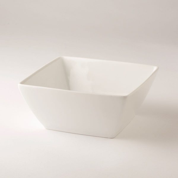 Serving bowl, square, white 16cm