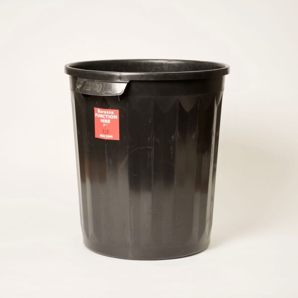 Rubbish Bin, black plastic