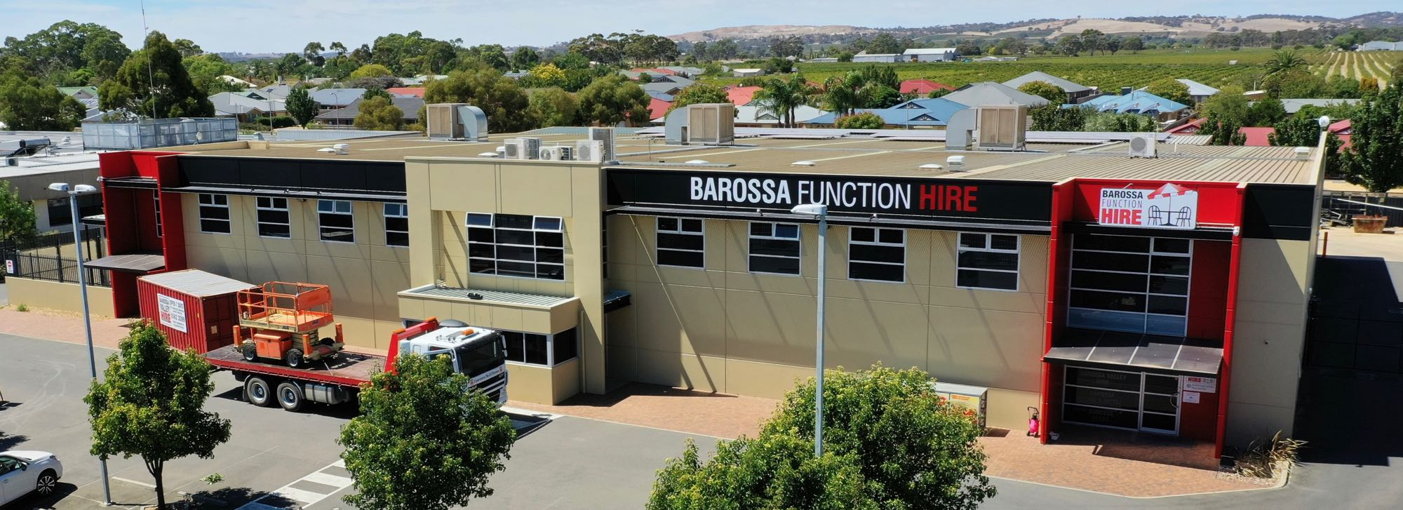 Barossa Function Hire from the air